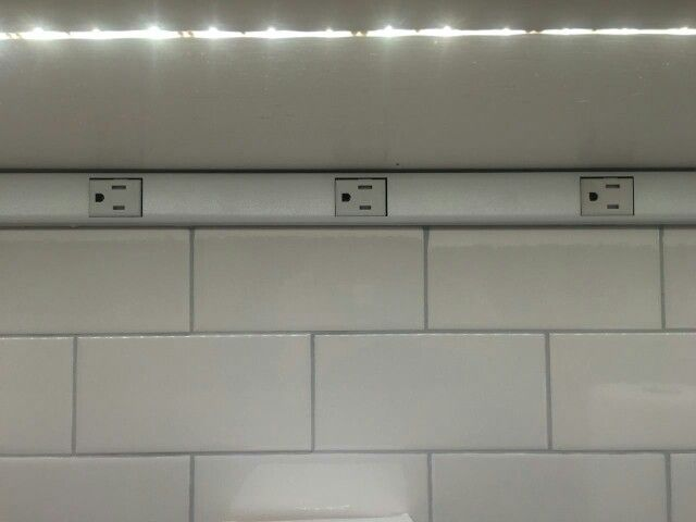 Frequent electric outlets and undercabinet lighting