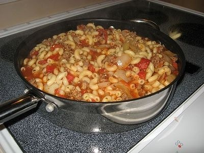 How to Make American Chop Suey the New England Way. good god its great.