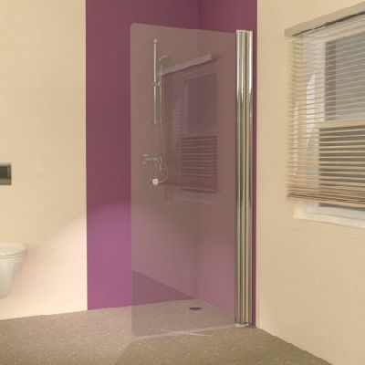 Straight Glass Wet Room Shower Screens