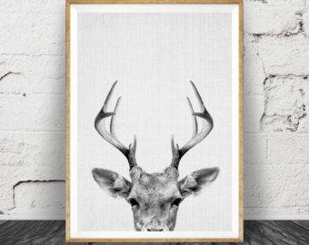 Printable Kids Gift Deer Print Fawn Baby Deer by lilandlola