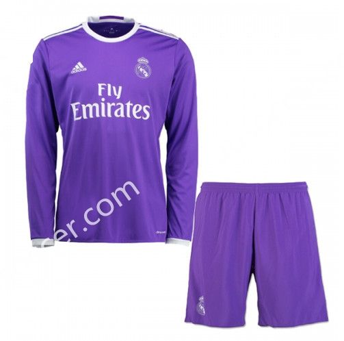 ... football shirt S JERSEY SOCCER ADIDAS 2016-17 Real Madrid Away Purple LS  Thailand Soccer Uniform AAA ... f4da07b337214