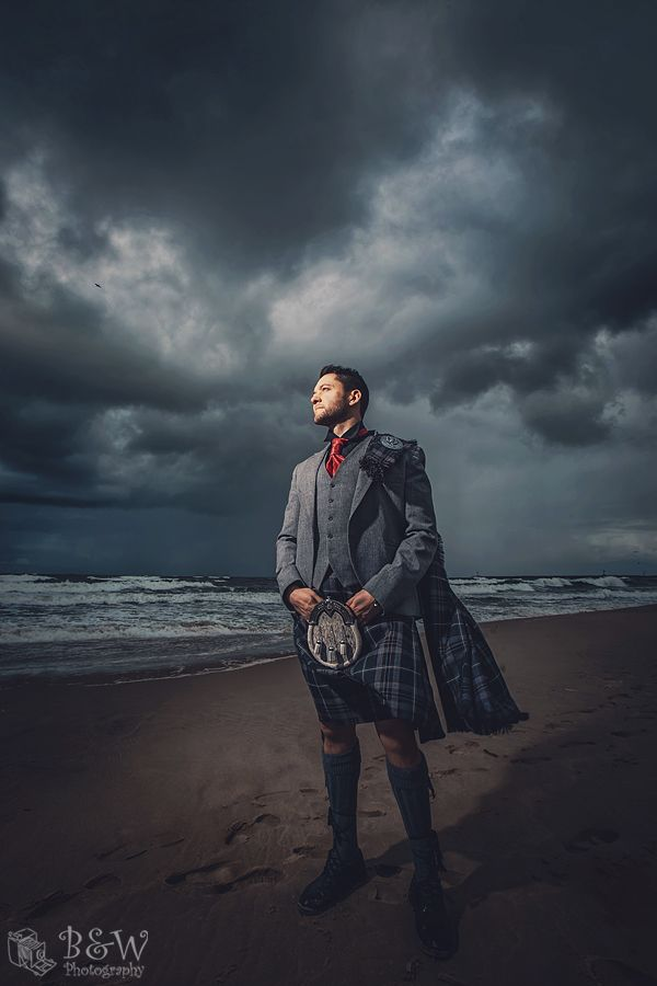Wedding Photosession during cloudy stormy weather.   Groom Photo Session Wedding