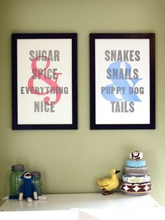 This Would Be Precious Side By Side For A Shared Sibling Room (boy/girl
