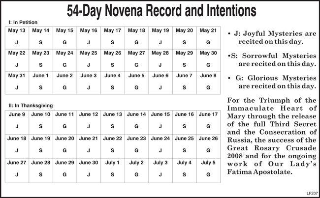 54 day rosary novena