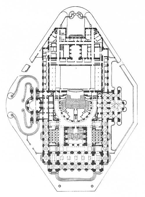 Opera house concert hall floor plan