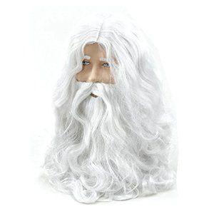 Pixnor Santa perruque et barbe mis en Père Noël Claus Magic