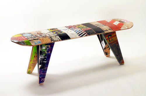 Skate deck stool