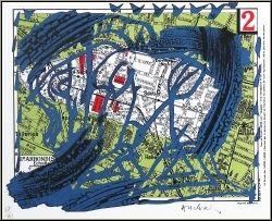 Pierre Alechinsky: Arrondissements - Paris II - Original Lithograph