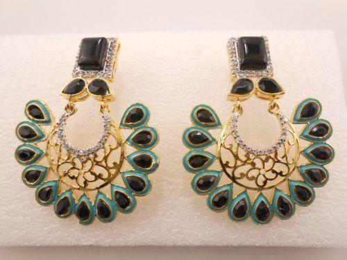 One-Pair-Women-Fashion-Earring-925-Sterling-Silver-Crystal-Rhinestone-studded-E1