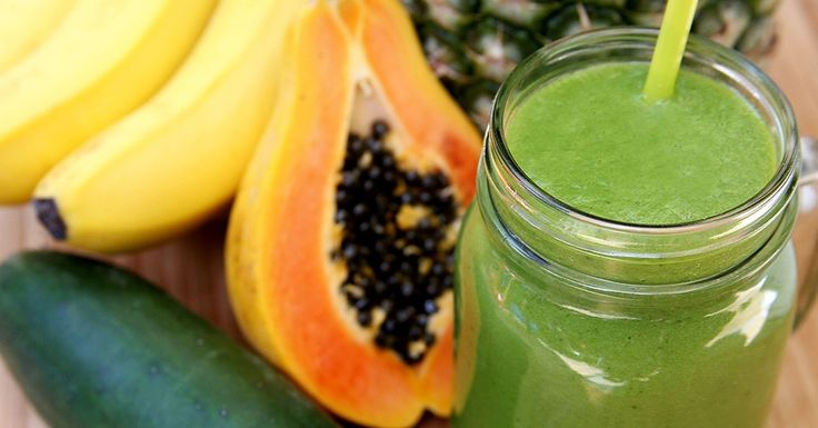 De-bloating Smoothie - 245 calories - Papaya, Cucumber, coconut milk