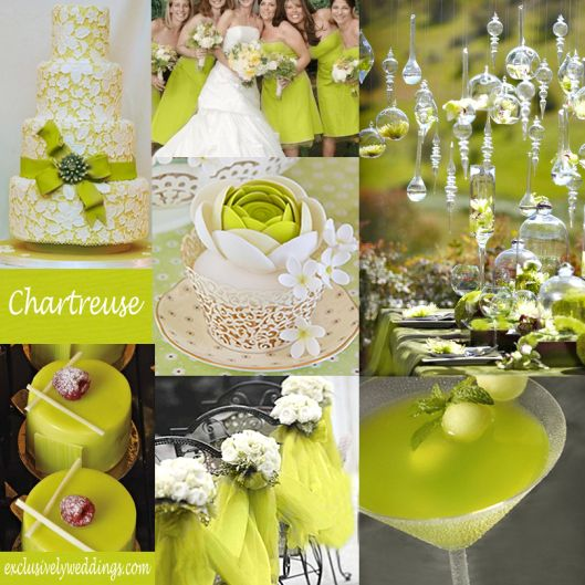 chartreuse wedding   Chartreuse Wedding Color