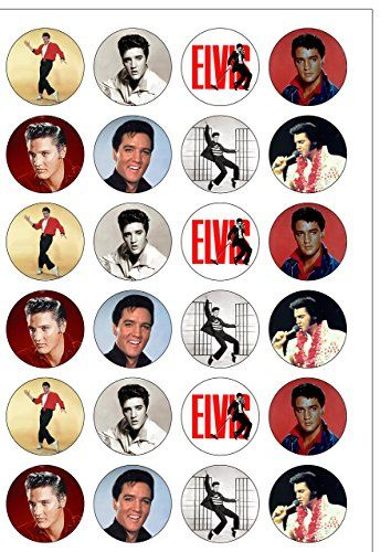 24 Precut Elvis Presley The King Edible Wafer Paper Cake Toppers Decorations by Top That Top That http://www.amazon.com/dp/B00XKO6H0A/ref=cm_sw_r_pi_dp_UZdIvb17EAD7M