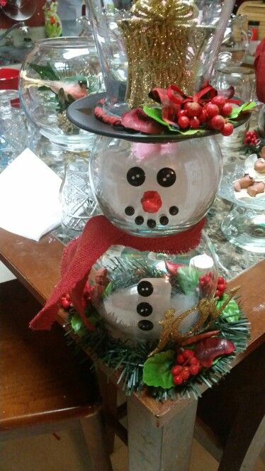 Holiday Classroom Decoration Ideas ~ Glass bowl snowman great diy gift adore n designs