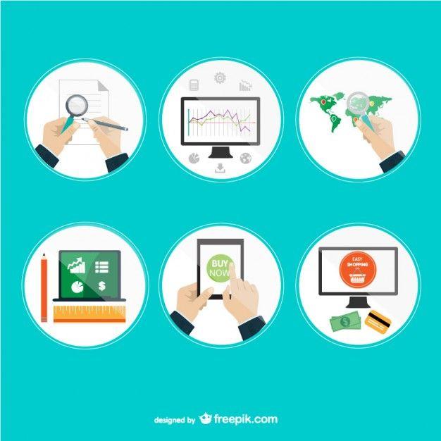 Internet Online Appliations Design Free Vector