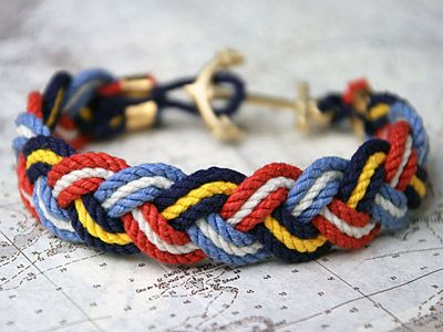 sailor cord rope bracelet.