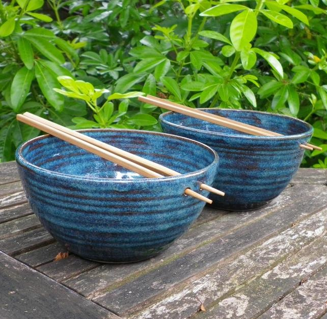 Noodle or rice bowls handthrown in stoneware  £24.99