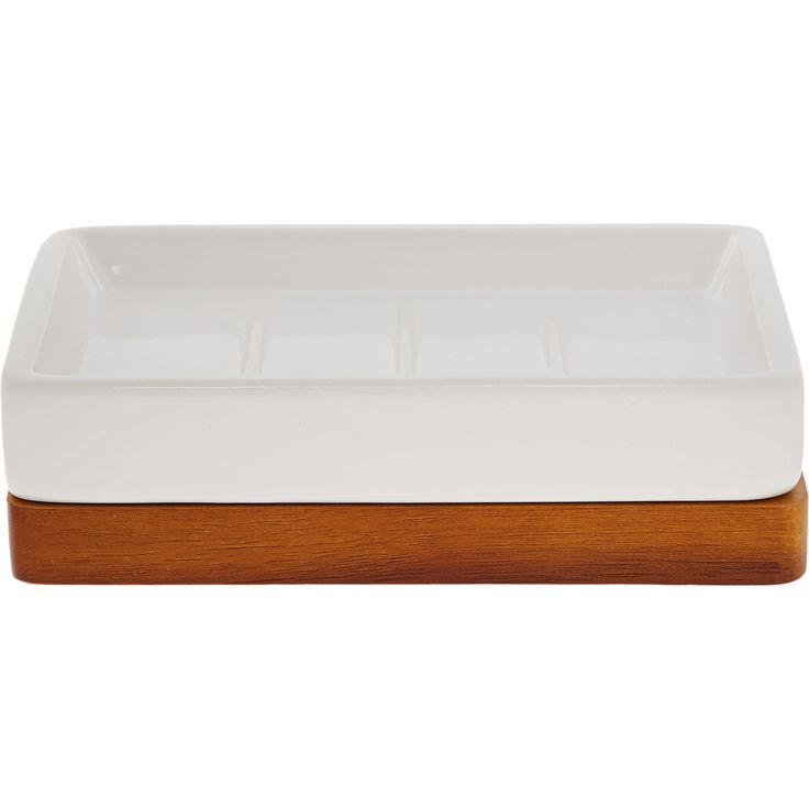 White Wooden Trim Soap Dish 4x15cm - Bathroom Accessories - Bed & Bath - Home - TK Maxx