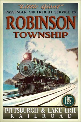 Robinson Township Pittsburgh & Lake Erie Railroad poster