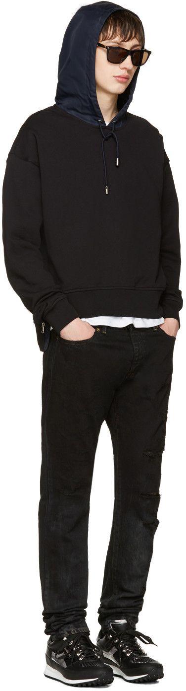 Diesel Black Gold - Black Boxy Zipper Hoodie
