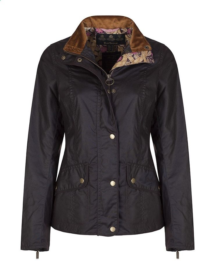 Barbour Womens Manderston Wax Jacket with William Morris Pimpernell Lining - Rustic LWX0586RU91 - Womens Wax Jackets - Womens Jackets and Coats - Women | Country Attire
