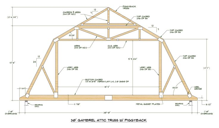 Click here for pdf file of truss design attic for Standard garage roof pitch