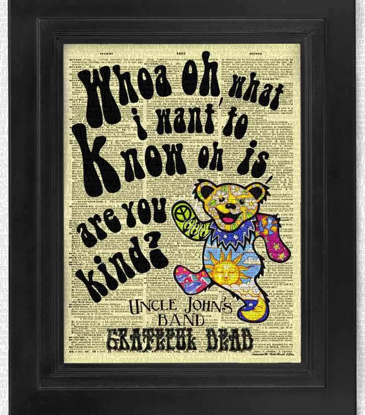 Grateful Dead Uncle Johns Band Are You Kind on by HelloUwall, $7.99