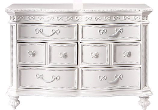 Shop for a Disney Princess White 6 Drawer Dresser at Rooms To Go Kids. Find  that will look great in your home and complement the rest of your furniture.