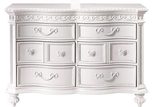 Shop For A Disney Princess White 6 Drawer Dresser At Rooms
