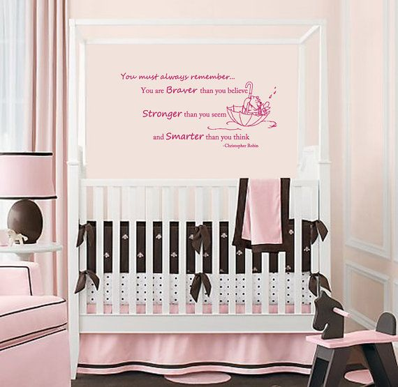 Fabulous Wall Decals Quotes Winnie the Pooh Decal Braver Stronger Smarter Vinyl Sticker Murals Home Decor Kids Nursery Baby Room L
