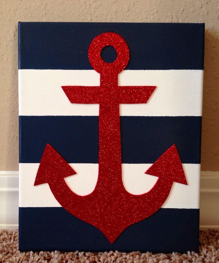 Striped anchor canvas