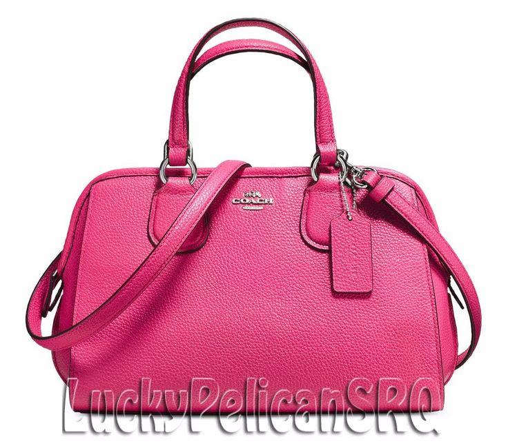 COACH 33735 Mini Nolita Satchel Bag Handbag Silver/Dahlia Pink NWT #Coach #Satchel