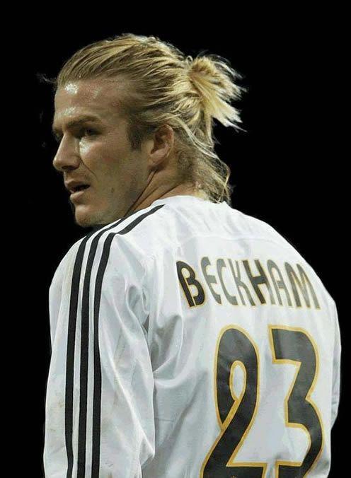 Foto David Beckham preparado chutar falta Real Madrid