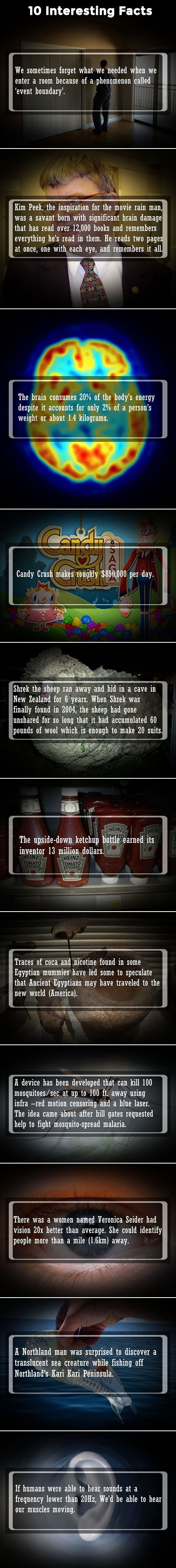 Time for some more interesting, yet true, facts that will get you thinking.