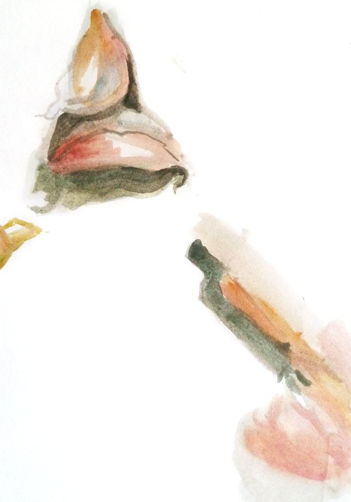 Jean Chiodi. Aguarela s/ papel, 29,7 x 21 cm