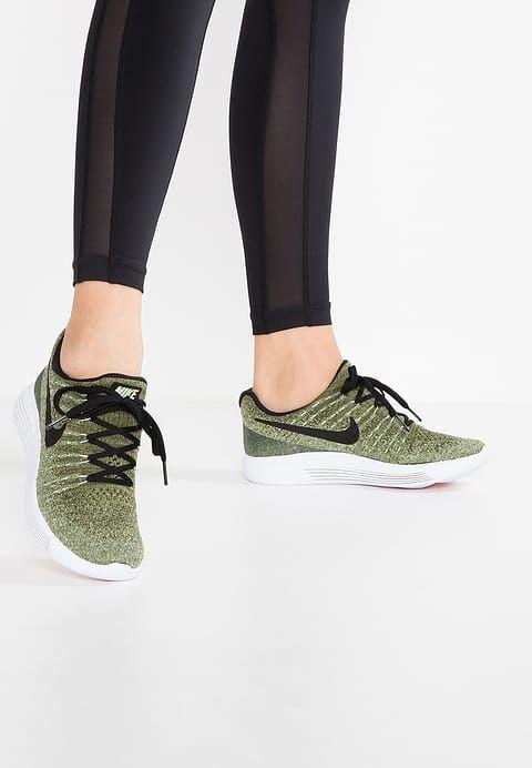 Nike Performance LUNAREPIC FLYKNIT 2 - Neutrala löparskor - palm green/black/vapor green/rough green/sunset glow - Zalando.se