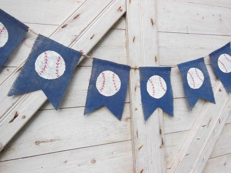 Baseball Nursery Decor Birthday Party Banner Bunting Garland