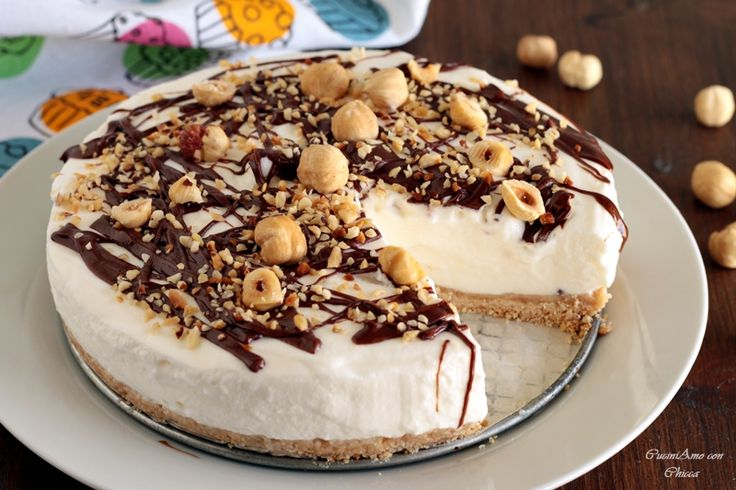 Torta fredda panna e nutella