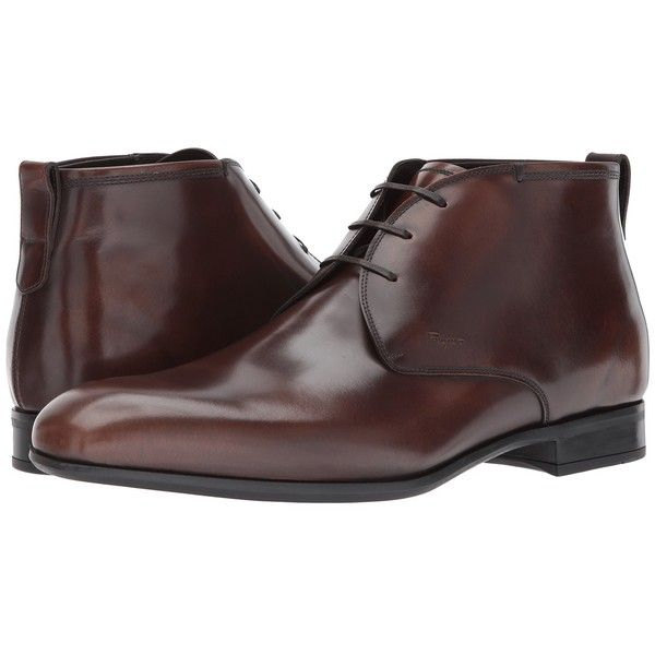 Salvatore Ferragamo Dufur Ankle Boot (Madera) Men's Shoes (2.085 BRL) ❤ liked on Polyvore featuring men's fashion, men's shoes, men's boots, mens ankle boots, mens leather ankle boots, mens boots, mens leather shoes and mens shoes