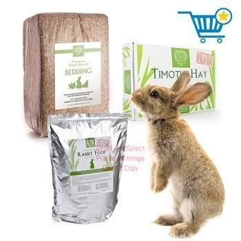 3rd Cut Timothy + Rabbit Pellets + Bedding