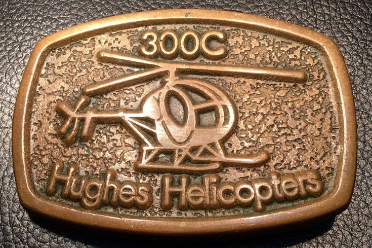 RARE 300C Hughes Helicopter Vintage Belt Buckle~Age Of Bronze~Numbered, Stamped  | eBay