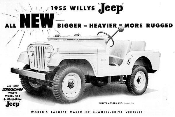 1955 Willys Jeep Ad