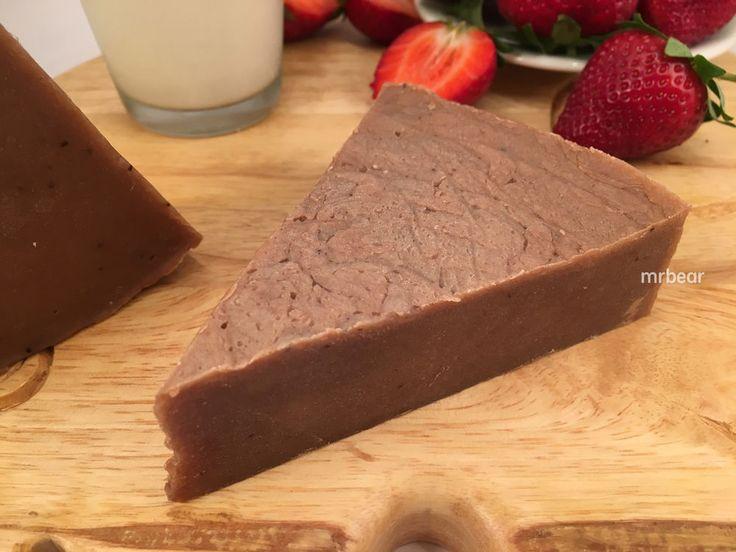 #Q10 #Fresh #Strawberry pulp & #Milk #HotProcess #Handmade #Soap Bar #skincare #nature #soaps #handmadesoap