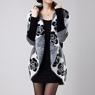 Women's Fashion Mohair  V-neck Loose Cardigan Knitwear Outerwear  (More Colors) – EUR € 20.49