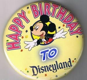 To attend Disneyland's birthday on July 17 and get a birthday button