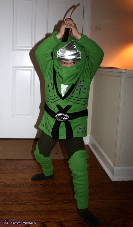 Ninjago!. Lego Ninjago Green Ninja - Homemade costumes for boys