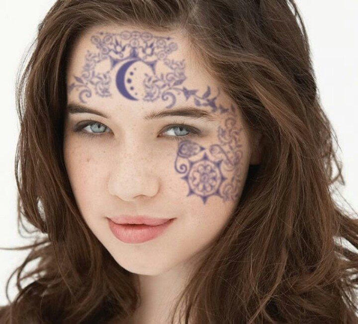 Henna Face Tattoo: 1000+ Images About Tattoed Girls: Face, Neck, Hands On