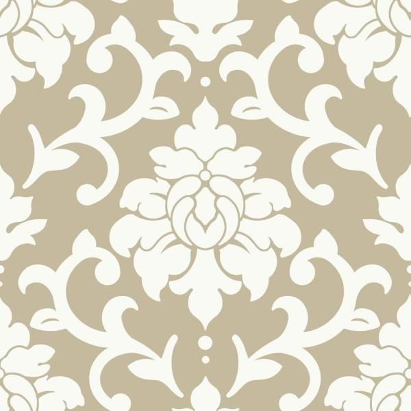 Roommates Striped Hexagon White And Gold Geometric Vinyl Peel Stick Wallpaper Roll Covers 28 18 Sq Ft Rmk10704wp The Home Depot Damask Wallpaper Wallpaper Roll Peel And Stick Wallpaper