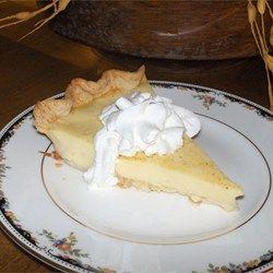 National Championship winner:  Grandma's Egg Custard Pie - Allrecipes.com