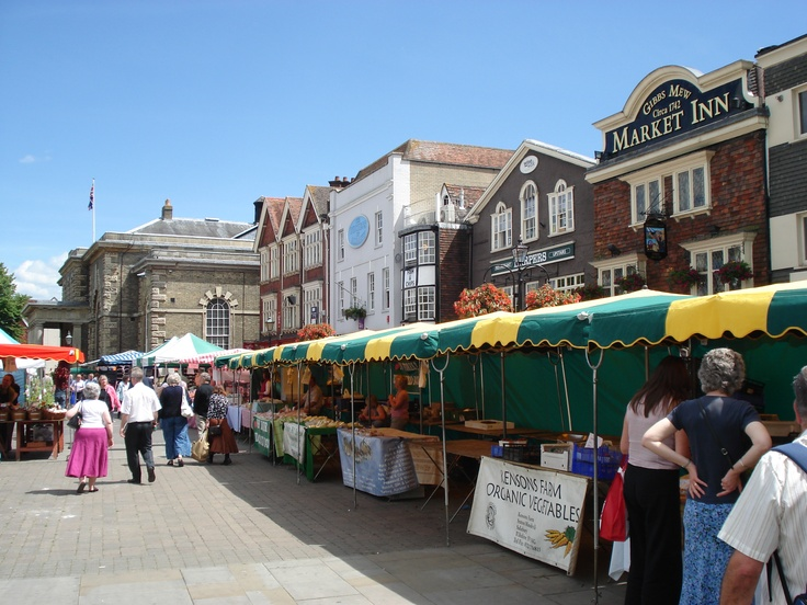Salisbury, UK, part of the market tues & sat...oh happy days x