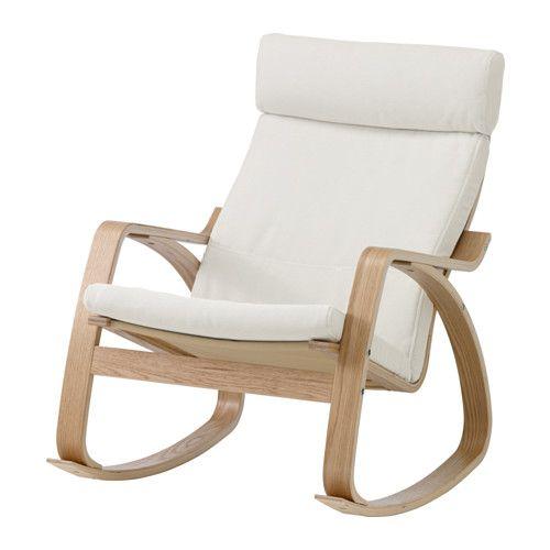 POÄNG Rocking-chair, oak veneer, Finnsta white Finnsta white oak veneer